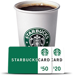 Starbucks* Gift Cards